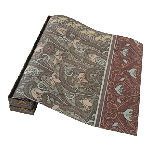 Peyviva Vintage Lily Sweet Smell Scented Floral Pattern Fragrant Drawer Liners Papers Closet Drawer Papers Including Six Sheets of Paper Garden by Peyviva