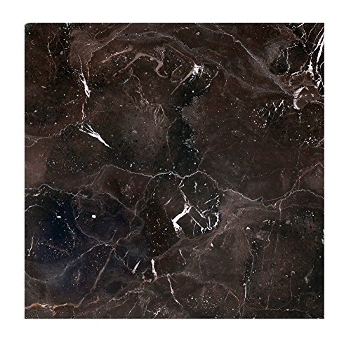 Marble Tile,Natural Polished Stones Chinese Dark Emperador Marble Tile Marble Decor Marble Slab (12x12 Inch-5Pcs per Case,5SQF)