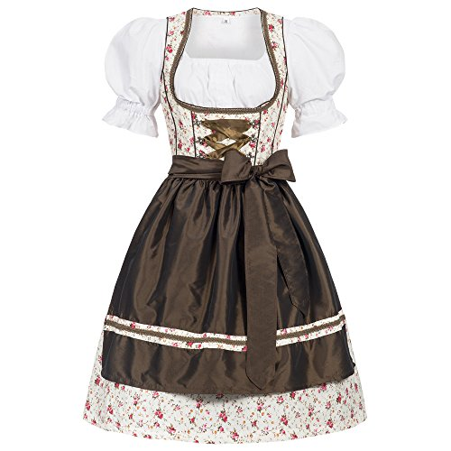 Women's German Dirndl Dress Costumes for Bavarian Oktoberfest Carnival Halloween Erna 36 ()
