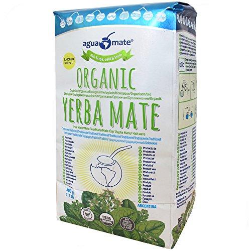AguaMate Organic Yerba Mate 500 Grs/1.1 Lbs/16.9 Oz