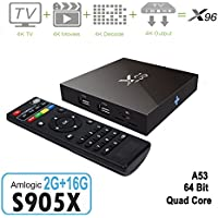 Mercu X96 2G/16G Smart TV Box Amlogic S905X Quad-core Android 6.0 Smart Set Top TV Box HDMI 2 USB Supports 3D 4K WIFI