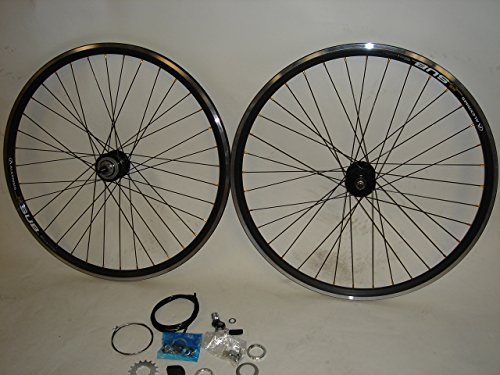 S3X 700c Alex Sub Sturmey Archer 3 Speed Hub Fixed Gear Road Track Fixie Bike Wheel Set with Shifter