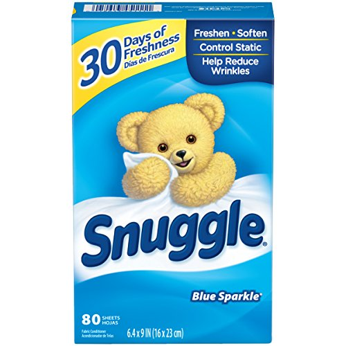 Global Enterprise Fabric (Snuggle Fabric Softener Dryer Sheets, Blue Sparkle, 80 Count)