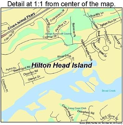 Hilton Head Island South Carolina Map.Amazon Com Large Street Road Map Of Hilton Head Island South
