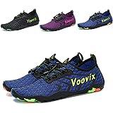 Leaproo Women Men Water Shoes Quick Dry Barefoot Sports Aqua Shoes for Swim Walking Yoga Beach Driving Boating blue44