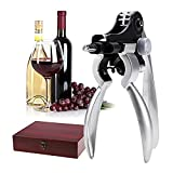 9 PCS Wine Opener Wing Corkscrew Stopper Foil Cutter with Mahogany Box [US Stock]