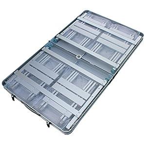 KLB Sport Aluminum Portable Folding Picnic Table w/4 Seats & Storage Net (green)
