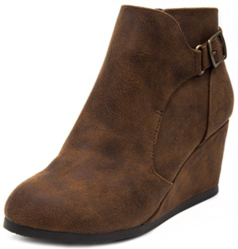 Pictures of London Fog Womens Martha Wedged Ankle Bootie 3