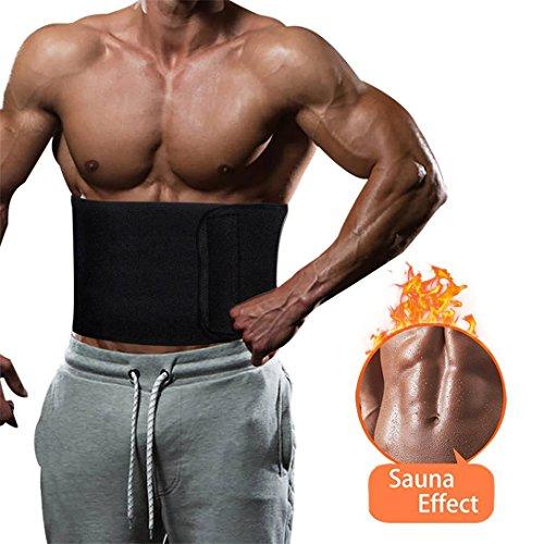 (Waist Trimmer Waist Trainer for Men Women Ab Belt Sweat Belt Sauna Slim Weight Loss Belt Adjustable Stomach Fat Burner Wrap and Waist Trainer Sweat Trainer for Men and Women (Black))