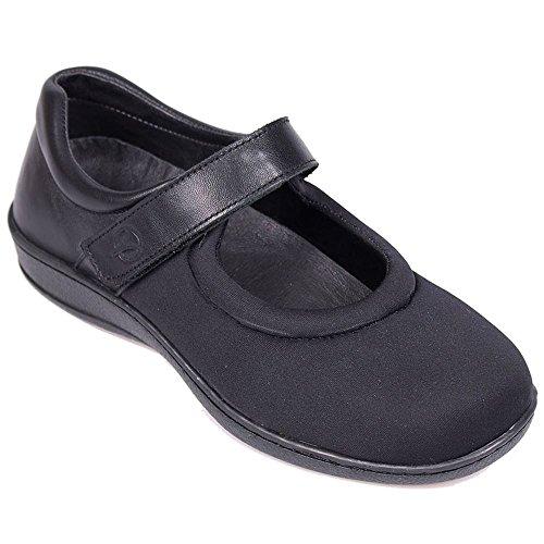Walmer Velcro Strap Extra Womens Shoes Black Wide Sandpiper Aq6U5