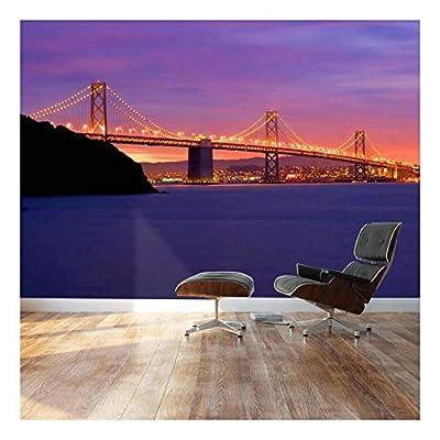 San Francisco Bay Golden Gate Bridge - Landscape - Wall Mural, Removable Sticker, Home Decor - 100x144 inches