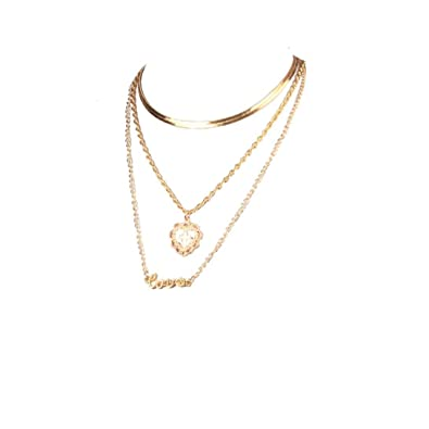 Amazon com: Longay Layers Cross Chokers Necklace Love
