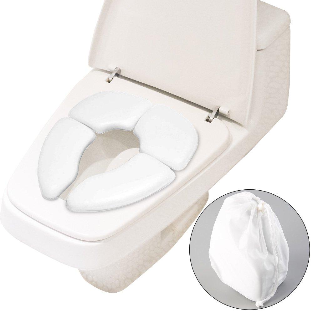 Soriace® Pliable Siège de Toilette Potty pour Bébés, Portable Peau Amicale & Antidérapant Réducteur de WC de Voyage Siège WC Enfant avec Sac Convient à tous les WC Standard ALLTOP