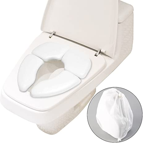 Soriace® Plegable Orinal – Asiento para inodoro con tapa para bebés y niños pequeños,
