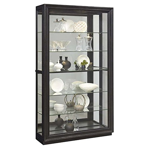 Pulaski P021553 Rockford Mirrored Two Way Sliding Door Curio Cabinet 45.9