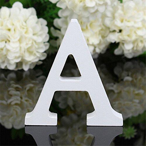 Peyan 3D Height 8cm Wooden Alphabet Letters Plaque Wall Home