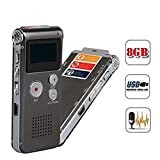 Hotkey 8GB Multifunctional USB Flash Digital Audio Voice Recorder Rechargeable Dictaphone Telephone MP3 Player