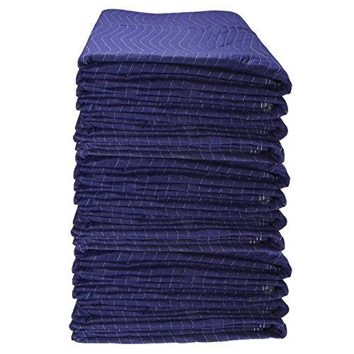 72'' X 80'' US Cargo Control Moving Blanket (12-Pack) - Econo Saver (43 lbs/dozen, Blue/Blue) by US Cargo Control