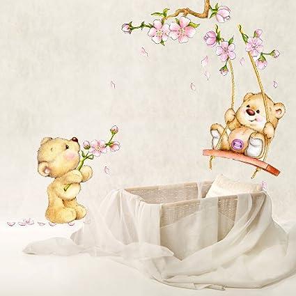 Wall Art Adesivo Da Muro Per Bambini Con Motivo Con Orso In