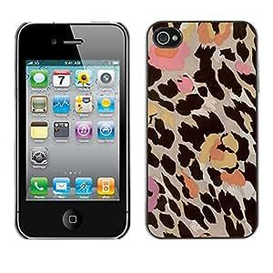 X-ray Impreso colorido protector duro espalda Funda piel de Shell para Apple iPhone 4 / iPhone 4S / 4S - Pattern Fur Flowers Pastel Abstract