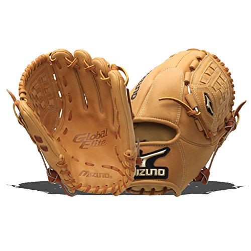 Mizuno GGE11 Global Elite Baseball Fielder's Mitt (Tan, 12.00-Inch, Right Handed Throw) - Pattern Baseball Fielder Glove
