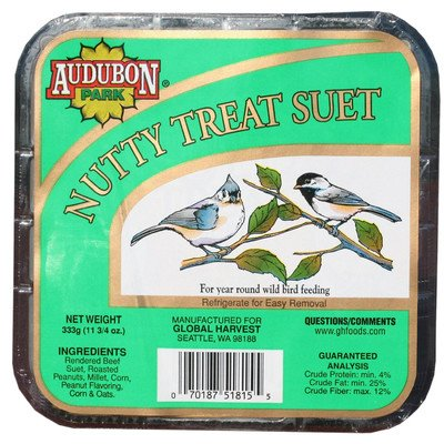Audubon Park 51815 11 Oz Nutty Treat Audubon Park Suet Cakes ()