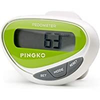 Pingko Pedometer Fitness Walking Step Counter LCD Display Step Distance Calorie Counter Fitness Tracker - Green