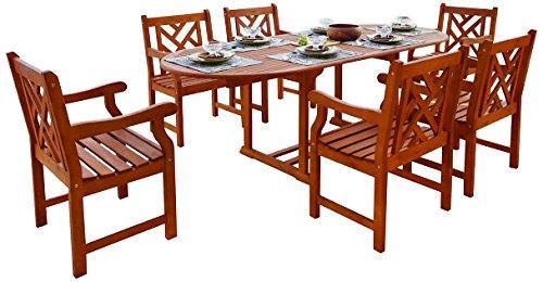 Malibu v144set7 7 piezas Juego de comedor para exteriores ...