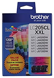 Brother Printer LC2053PKS Multi Pack Ink Cartridge, Cyan/Magenta/Yellow