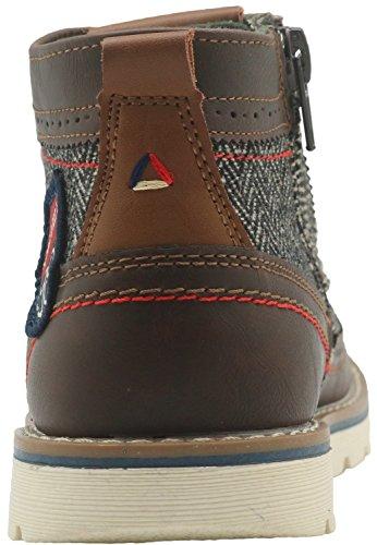 Apakowa Kurzschaft Herren Stiefel Combat Boots Klassische Stiefel (Color : Brown3, Size : 1 UK/33 EU)