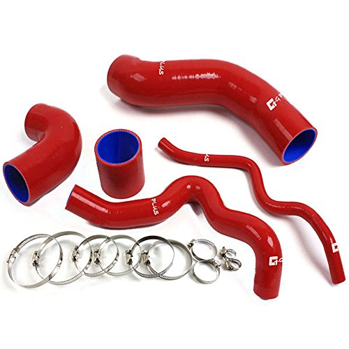 (Silicone Turbo Induction Tube Pipe For VW Golf IV MK4 BORA 1.8T JETTA 1996-2005 Red 5pcs)