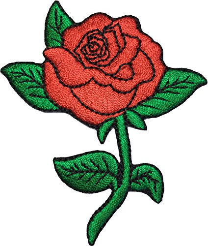 Red Riding Hood Diy Costumes (Papapatch Red Rose Tattoo Love Cute 70s Retro Biker Costume DIY Applique Embroidered Sew Iron on Patch (IRON-RED-ROSE))