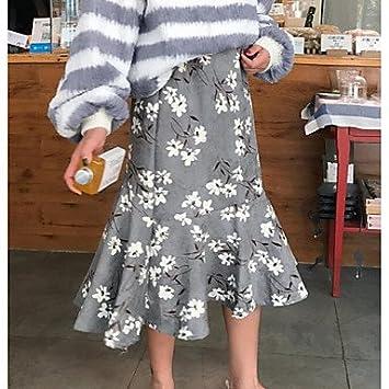 Mayihang Vestido Falda de la Mujer Vintage Trompeta Sirena Faldas ...