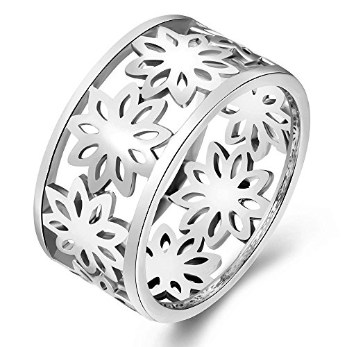Fashion Personality Hollow Out Flower Shape Elegant Temperament Ring