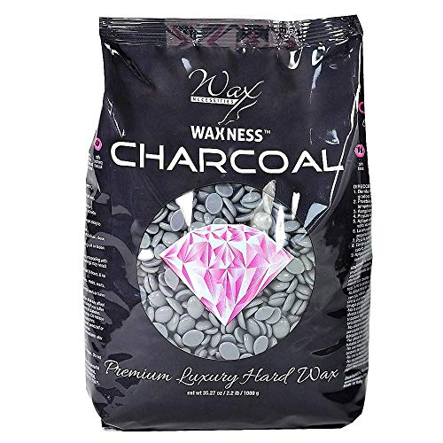 Waxness Wax Necessities Polymer Blend Luxury Hard Wax Charcoal 2.2 Pound