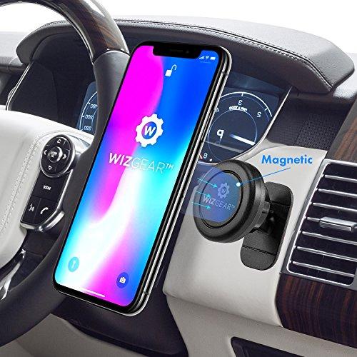 WizGear Universal Stick en el tablero de instrumentos Soporte magnético de montaje en automóvil para teléfonos celulares y mini tabletas con tecnología Fast Swift-snap