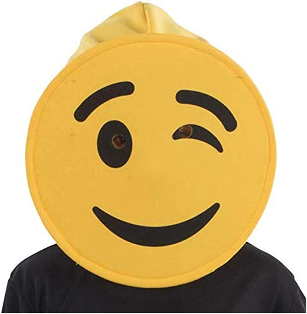 Dress Up America Winking Emoji Mask For Adults Disfraces, Multi ...