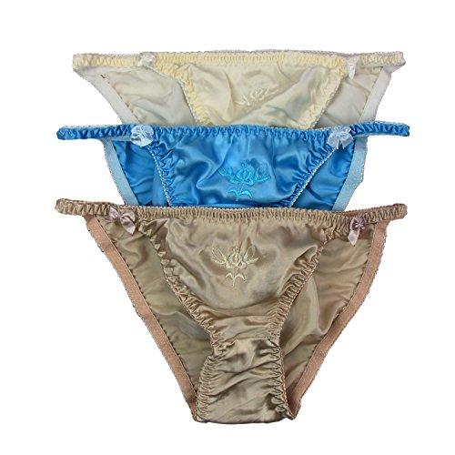 Paraíso seda las mujeres de seda bikini 3pares en un económico, tamaño S, M, L, XL, XXL C