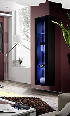 Armario de pared volado «Fly» de BMF, superbrillante con repisas de cristal, para salones, habitaciones y estudios: Amazon.es: Hogar