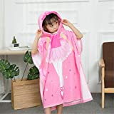 Amyannie Cotton Kids Hooded Towel for Bath, Swimming, Beach Holiday Soft, Lightweight Boys Girls Towel (Color : B, Size : L)