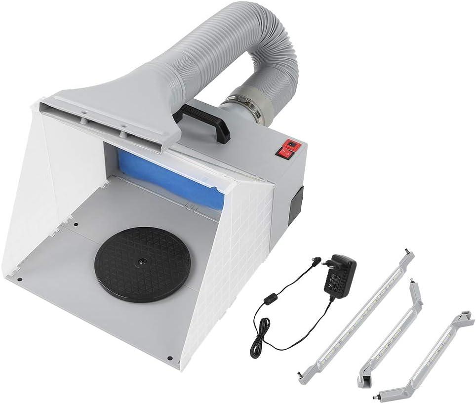 Zerone Extractor de Aerógrafo, Kit de Cabina de Pintura con Aerógrafo, Extractor de Cabina de Pintura Artesanal