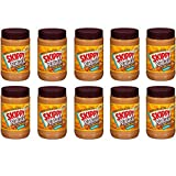 Skippy Natural Creamy Peanut Butter Spread with Honey 40 oz. Plastic Jar - 10 Bottles
