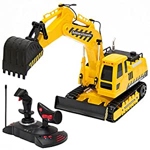 Best Choice Products 27MHz 1:18 RC Excavator Bulldozer Kids Remote Control Toy Tractor