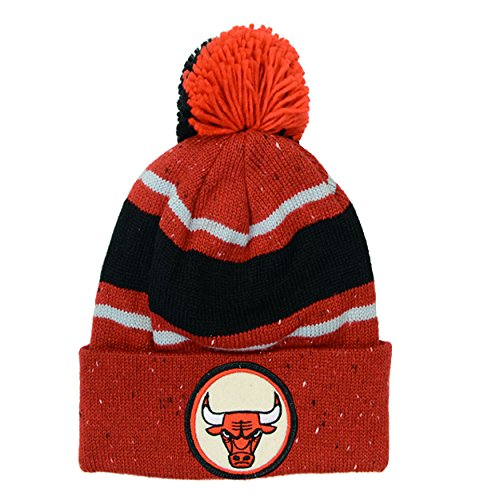 0763dab533a Mitchell Ness Bulls Jordan Pippen Speckle Winter Pom Beanie