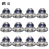 1 x 1-1/2 Clear Acrylic Small Pull Handle, Self-Stick Round Mirror Knobs - Pack of 12