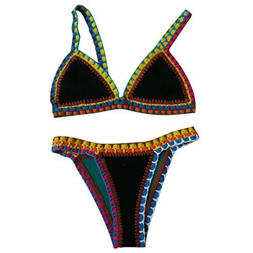 Highdas Nuevo atractivo del bikini de ganchillo hecho a mano determinada de la manera femenina del traje de ba?o del tri¨¢ngulo de ganchillo traje de ba?o Style 7