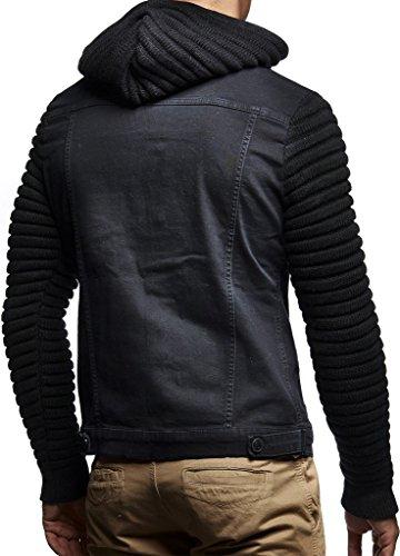 Ln5240 Sweat Schwarz Hoodie Des Vintage Nelson Capuche En Jeans Jean Pour Cardigan Corde À Veste Leif Pull Hommes THaOSR