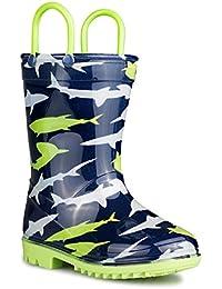 Kids Rainboots, Waterproof, Pull Handles, Fun Prints & Colors, All Sizes