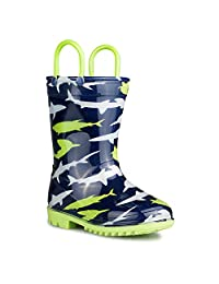 Chillipop Rainboots For Boys, Girls & Toddlers – Fun Kids Prints, Pull On Handles