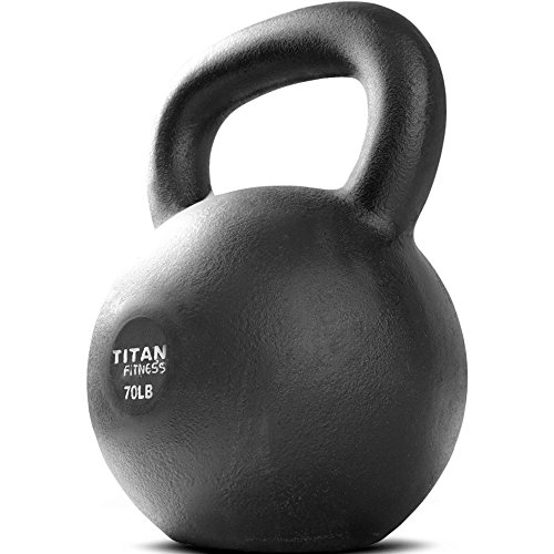 Titan Fitness Cast Iron Kettlebell Weight 70 lb Natural Solid Workout Swing by Titan Fitness